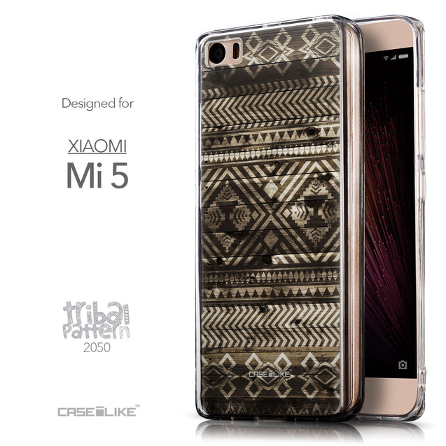 Front & Side View - CASEiLIKE Xiaomi Mi 5 back cover Indian Tribal Theme Pattern 2050