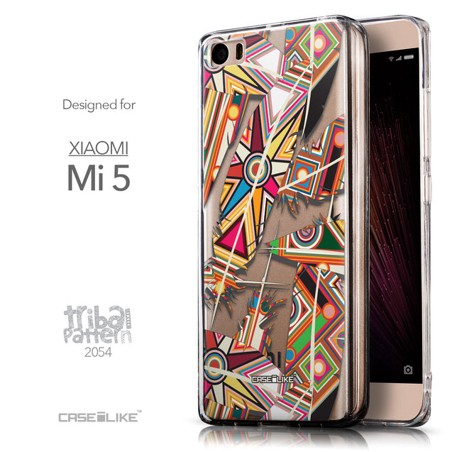 Front & Side View - CASEiLIKE Xiaomi Mi 5 back cover Indian Tribal Theme Pattern 2054