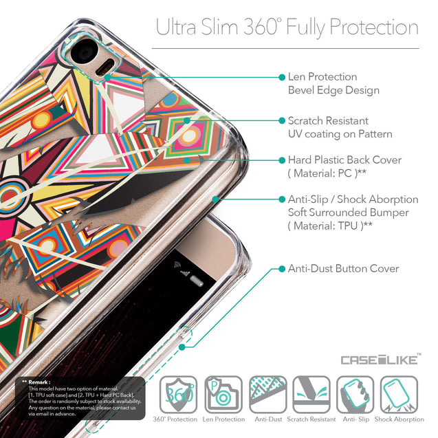 Details in English - CASEiLIKE Xiaomi Mi 5 back cover Indian Tribal Theme Pattern 2054