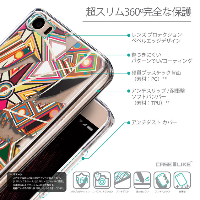 Details in Japanese - CASEiLIKE Xiaomi Mi 5 back cover Indian Tribal Theme Pattern 2054