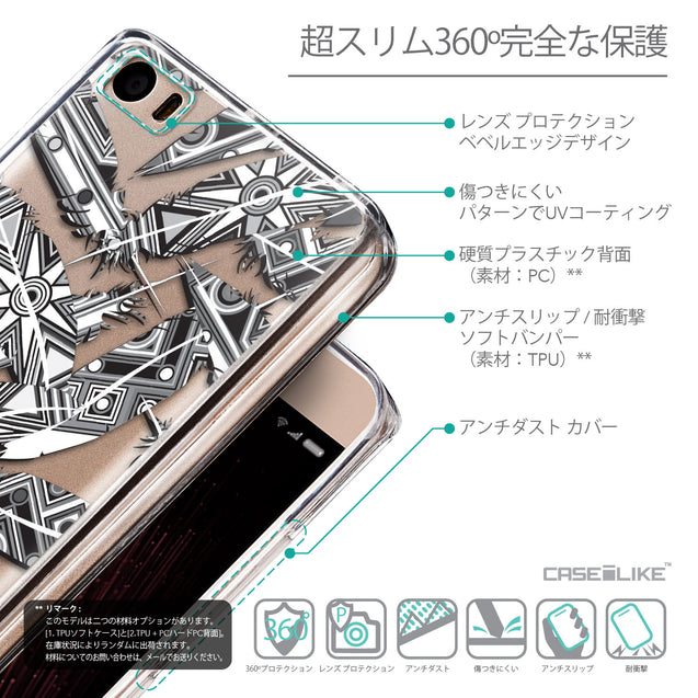 Details in Japanese - CASEiLIKE Xiaomi Mi 5 back cover Indian Tribal Theme Pattern 2056