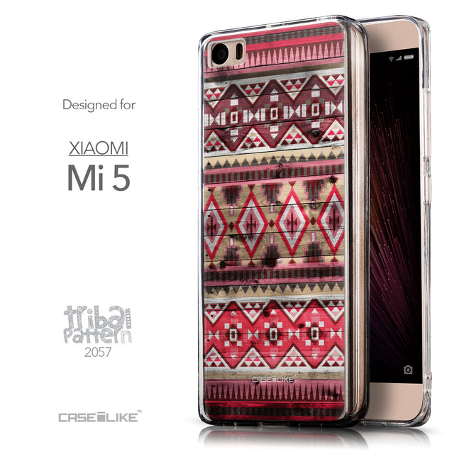 Front & Side View - CASEiLIKE Xiaomi Mi 5 back cover Indian Tribal Theme Pattern 2057