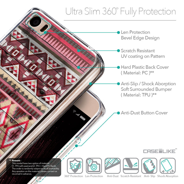 Details in English - CASEiLIKE Xiaomi Mi 5 back cover Indian Tribal Theme Pattern 2057