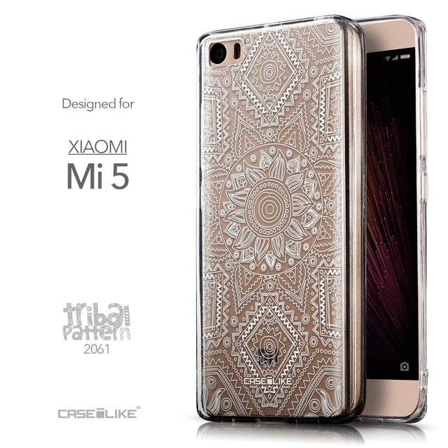 Front & Side View - CASEiLIKE Xiaomi Mi 5 back cover Indian Line Art 2061