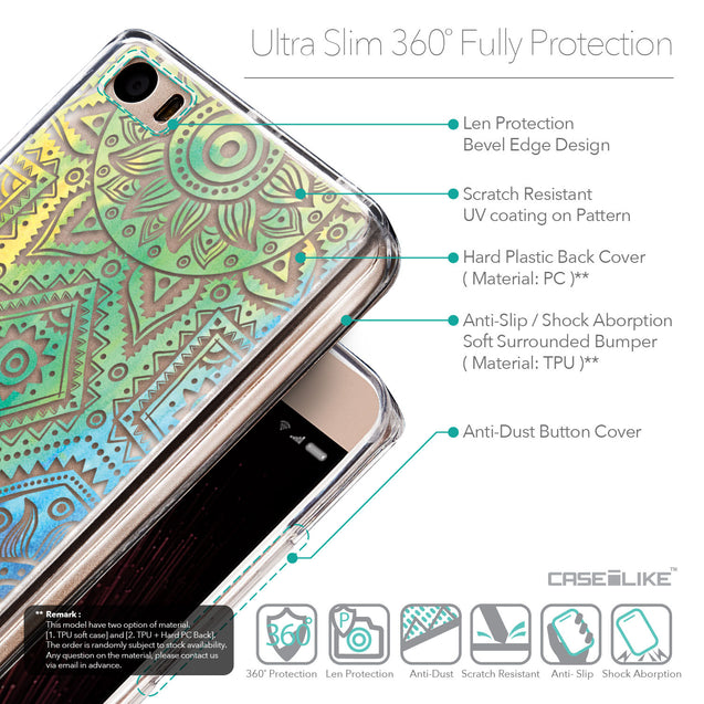 Details in English - CASEiLIKE Xiaomi Mi 5 back cover Indian Line Art 2064