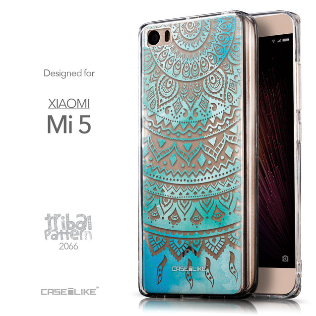 Front & Side View - CASEiLIKE Xiaomi Mi 5 back cover Indian Line Art 2066