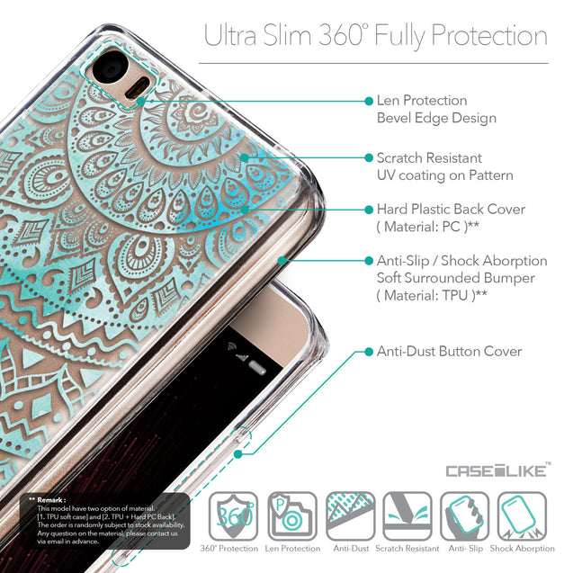 Details in English - CASEiLIKE Xiaomi Mi 5 back cover Indian Line Art 2066