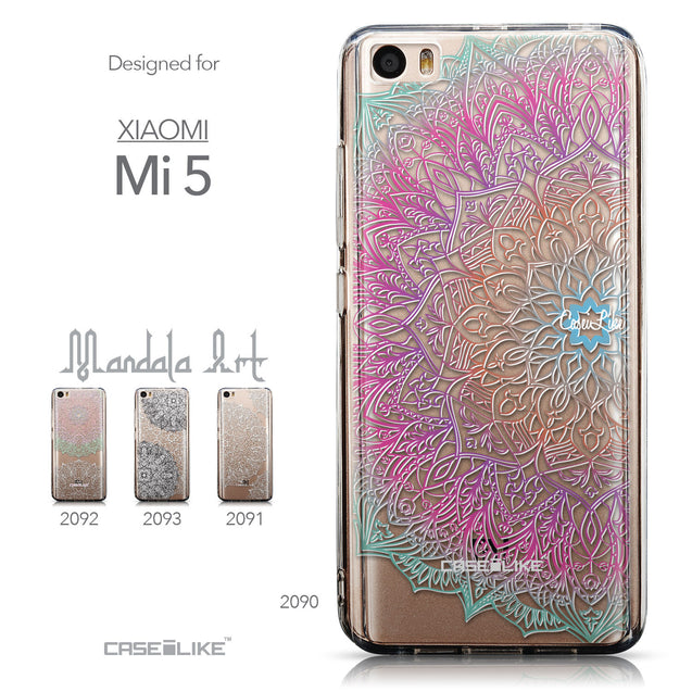 Collection - CASEiLIKE Xiaomi Mi 5 back cover Mandala Art 2090