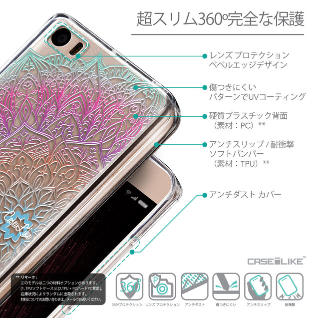 Details in Japanese - CASEiLIKE Xiaomi Mi 5 back cover Mandala Art 2090