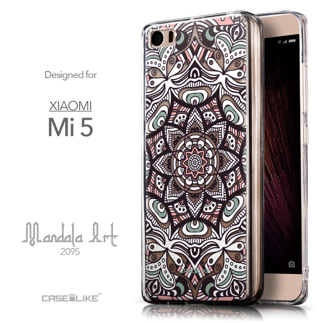 Front & Side View - CASEiLIKE Xiaomi Mi 5 back cover Mandala Art 2095