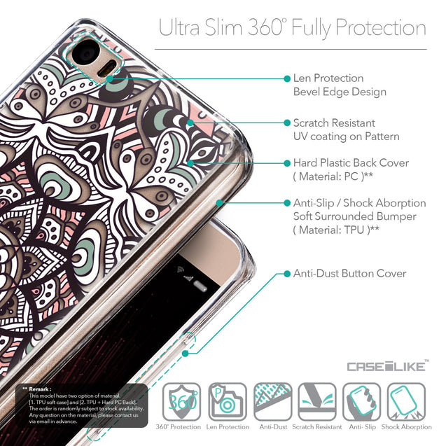 Details in English - CASEiLIKE Xiaomi Mi 5 back cover Mandala Art 2095