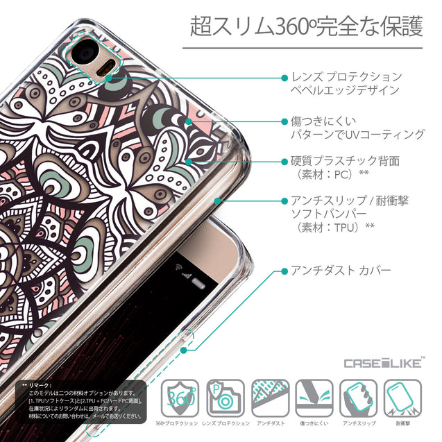 Details in Japanese - CASEiLIKE Xiaomi Mi 5 back cover Mandala Art 2095