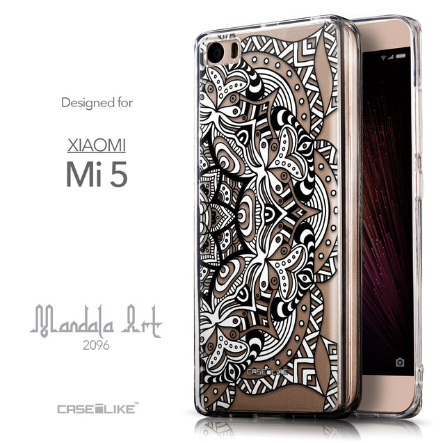 Front & Side View - CASEiLIKE Xiaomi Mi 5 back cover Mandala Art 2096
