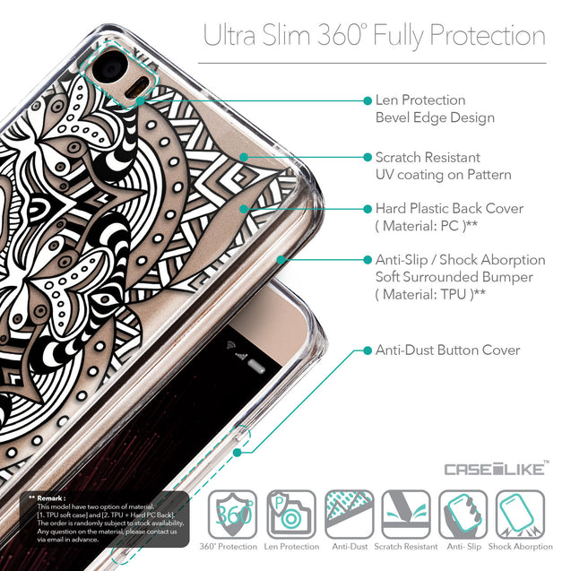 Details in English - CASEiLIKE Xiaomi Mi 5 back cover Mandala Art 2096