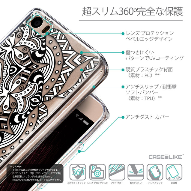 Details in Japanese - CASEiLIKE Xiaomi Mi 5 back cover Mandala Art 2096