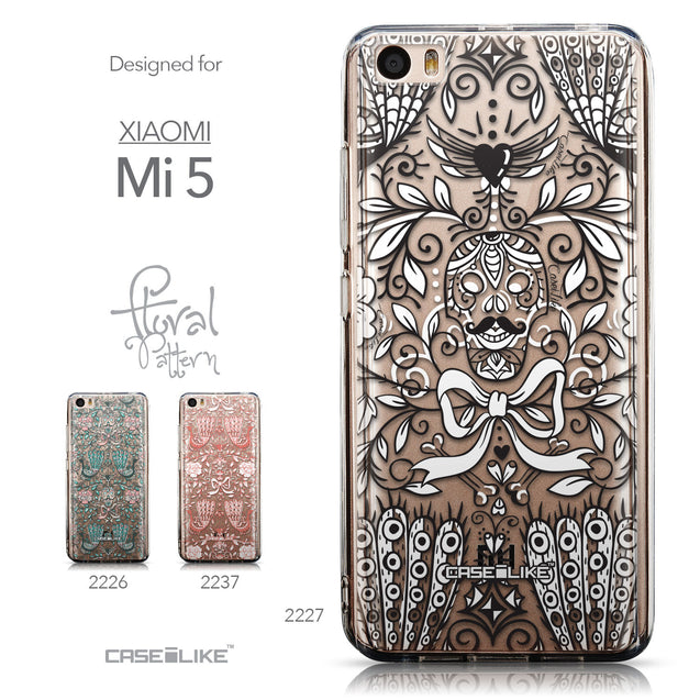 Collection - CASEiLIKE Xiaomi Mi 5 back cover Roses Ornamental Skulls Peacocks 2227
