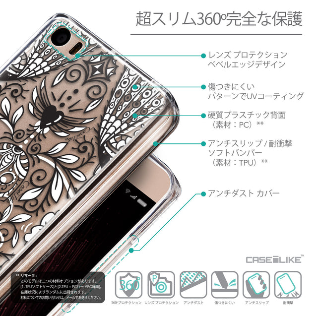 Details in Japanese - CASEiLIKE Xiaomi Mi 5 back cover Roses Ornamental Skulls Peacocks 2227