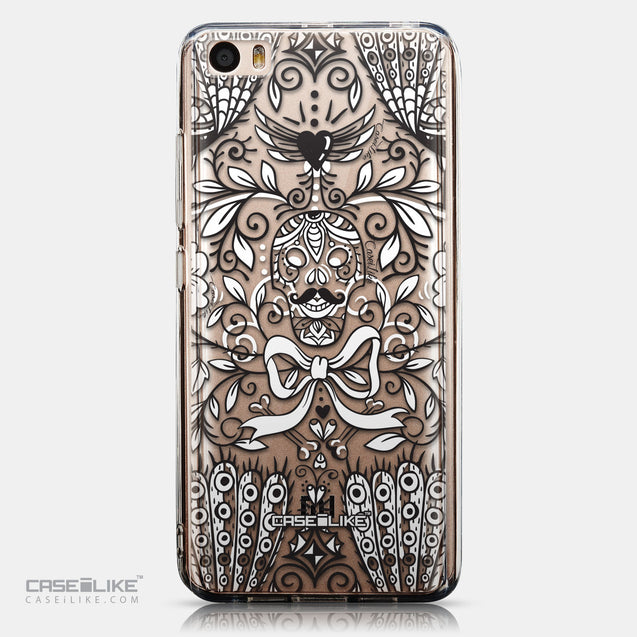 CASEiLIKE Xiaomi Mi 5 back cover Roses Ornamental Skulls Peacocks 2227