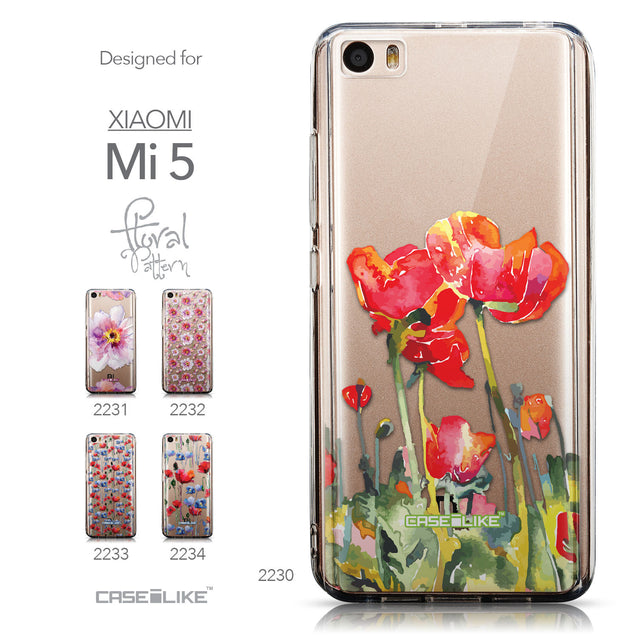 Collection - CASEiLIKE Xiaomi Mi 5 back cover Watercolor Floral 2230