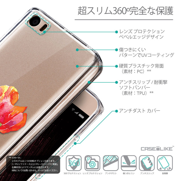 Details in Japanese - CASEiLIKE Xiaomi Mi 5 back cover Watercolor Floral 2230