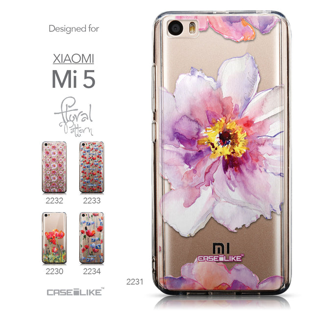 Collection - CASEiLIKE Xiaomi Mi 5 back cover Watercolor Floral 2231