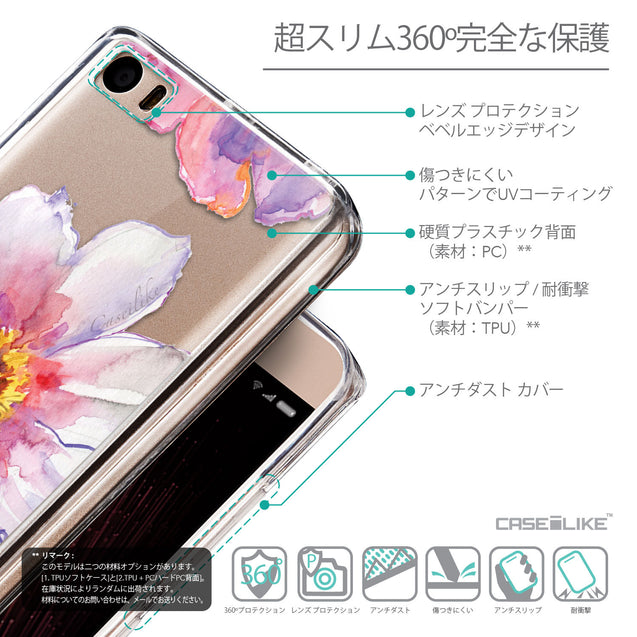 Details in Japanese - CASEiLIKE Xiaomi Mi 5 back cover Watercolor Floral 2231
