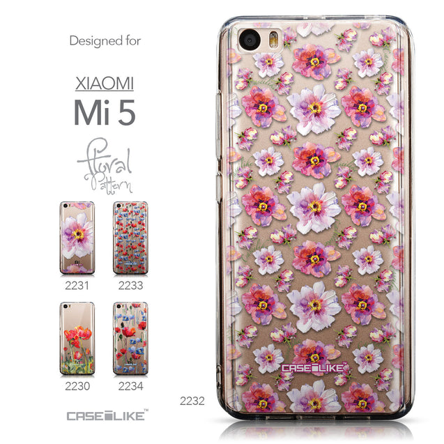 Collection - CASEiLIKE Xiaomi Mi 5 back cover Watercolor Floral 2232