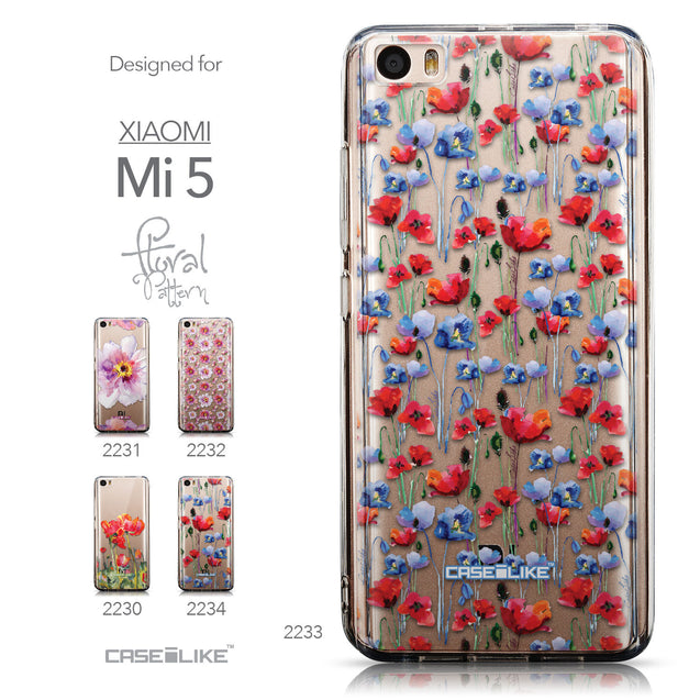 Collection - CASEiLIKE Xiaomi Mi 5 back cover Watercolor Floral 2233