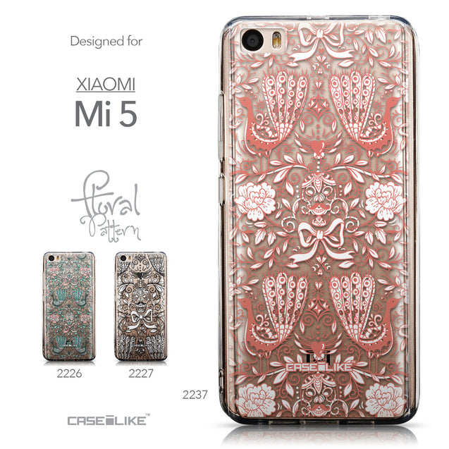 Collection - CASEiLIKE Xiaomi Mi 5 back cover Roses Ornamental Skulls Peacocks 2237