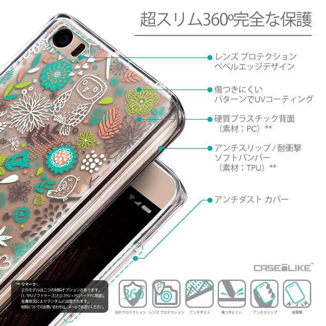 Details in Japanese - CASEiLIKE Xiaomi Mi 5 back cover Spring Forest White 2241