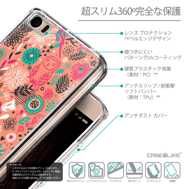Details in Japanese - CASEiLIKE Xiaomi Mi 5 back cover Spring Forest Pink 2242