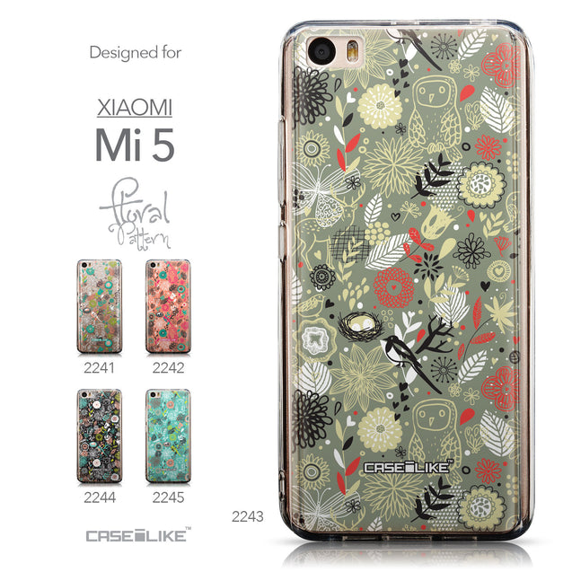 Collection - CASEiLIKE Xiaomi Mi 5 back cover Spring Forest Gray 2243