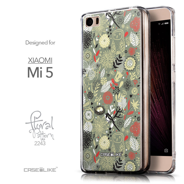 Front & Side View - CASEiLIKE Xiaomi Mi 5 back cover Spring Forest Gray 2243