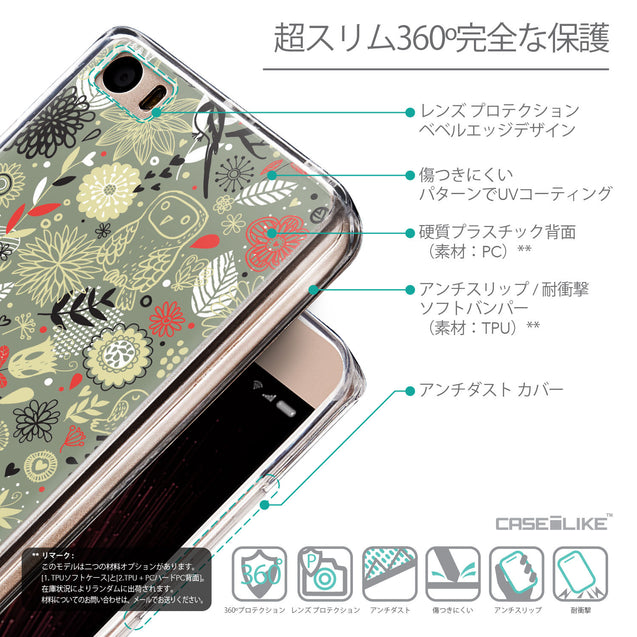 Details in Japanese - CASEiLIKE Xiaomi Mi 5 back cover Spring Forest Gray 2243