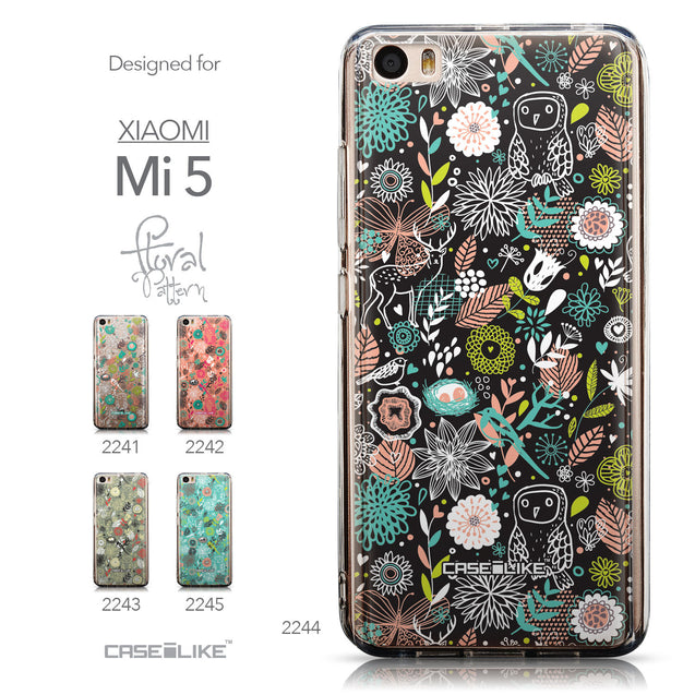 Collection - CASEiLIKE Xiaomi Mi 5 back cover Spring Forest Black 2244