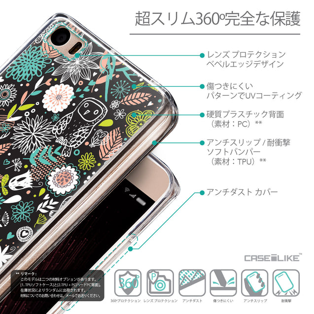 Details in Japanese - CASEiLIKE Xiaomi Mi 5 back cover Spring Forest Black 2244