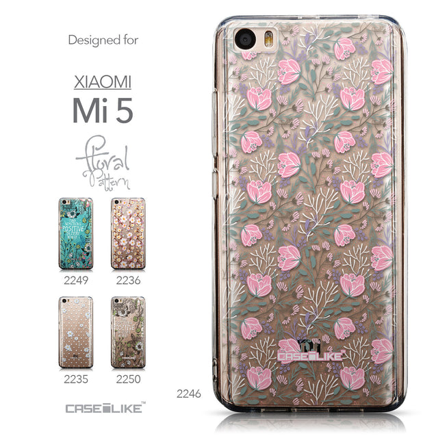 Collection - CASEiLIKE Xiaomi Mi 5 back cover Flowers Herbs 2246