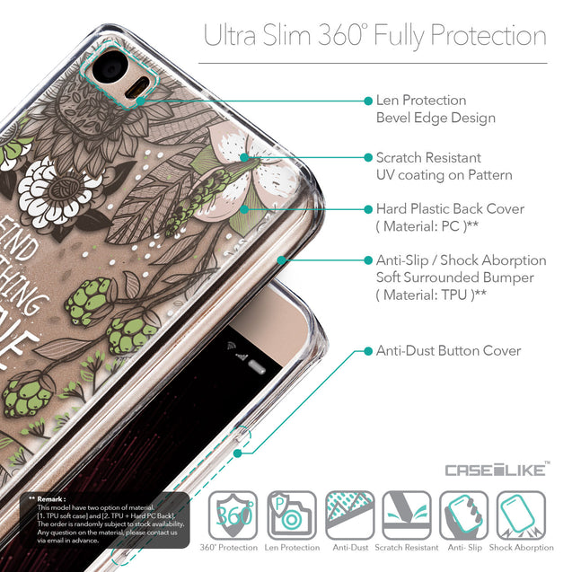Details in English - CASEiLIKE Xiaomi Mi 5 back cover Blooming Flowers 2250
