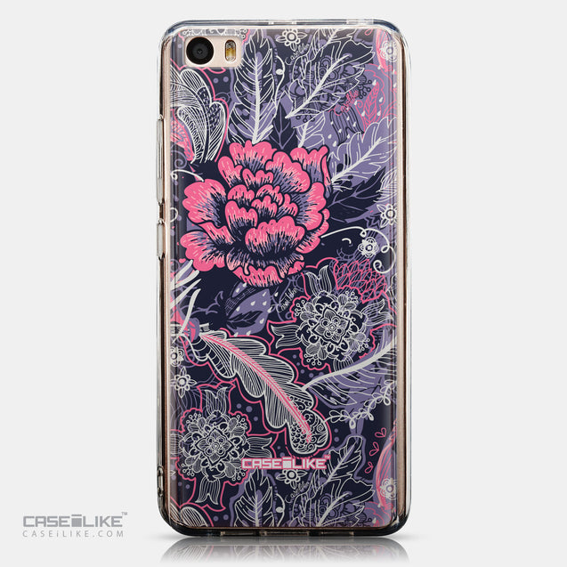 CASEiLIKE Xiaomi Mi 5 back cover Vintage Roses and Feathers Blue 2252