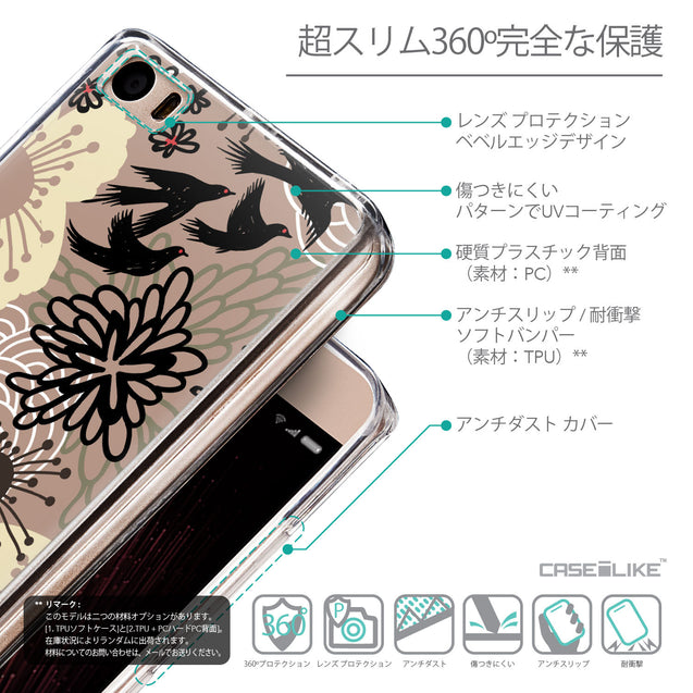 Details in Japanese - CASEiLIKE Xiaomi Mi 5 back cover Japanese Floral 2254