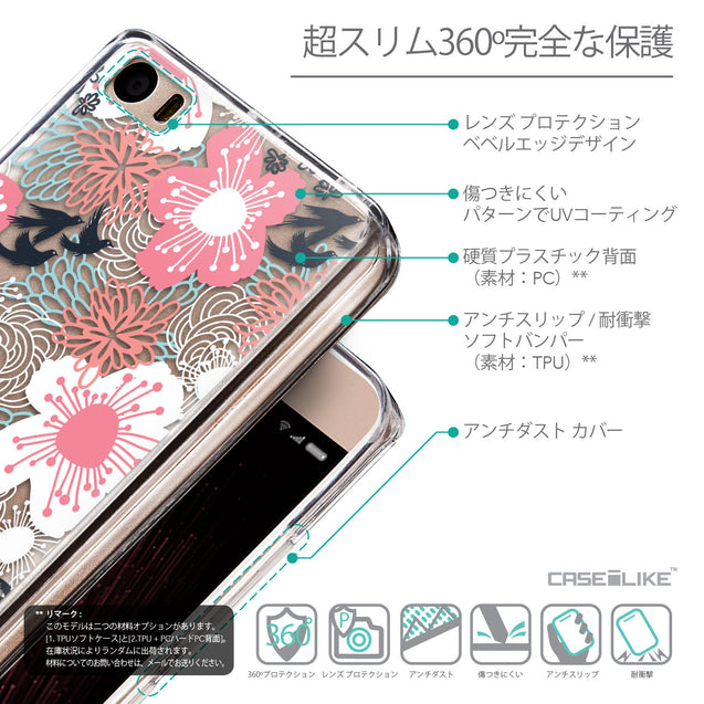 Details in Japanese - CASEiLIKE Xiaomi Mi 5 back cover Japanese Floral 2255
