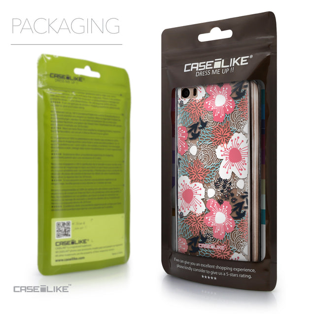 Packaging - CASEiLIKE Xiaomi Mi 5 back cover Japanese Floral 2255