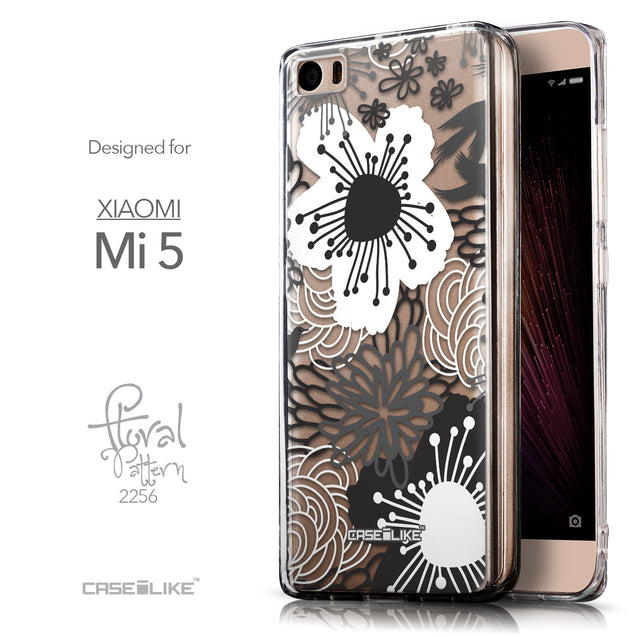 Front & Side View - CASEiLIKE Xiaomi Mi 5 back cover Japanese Floral 2256