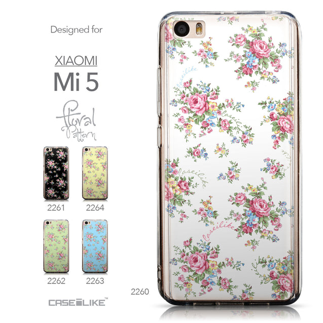 Collection - CASEiLIKE Xiaomi Mi 5 back cover Floral Rose Classic 2260