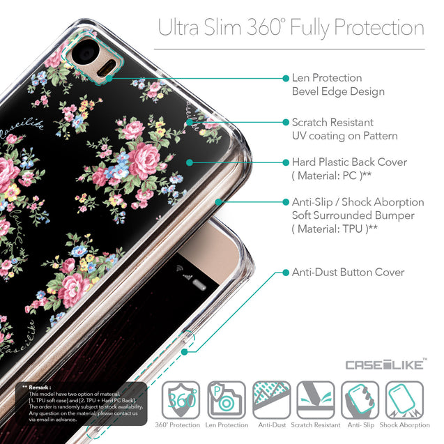 Details in English - CASEiLIKE Xiaomi Mi 5 back cover Floral Rose Classic 2261