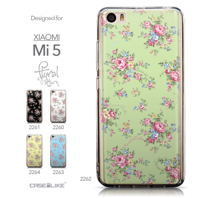 Collection - CASEiLIKE Xiaomi Mi 5 back cover Floral Rose Classic 2262