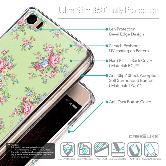 Details in English - CASEiLIKE Xiaomi Mi 5 back cover Floral Rose Classic 2262
