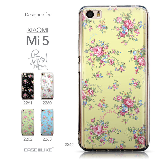 Collection - CASEiLIKE Xiaomi Mi 5 back cover Floral Rose Classic 2264