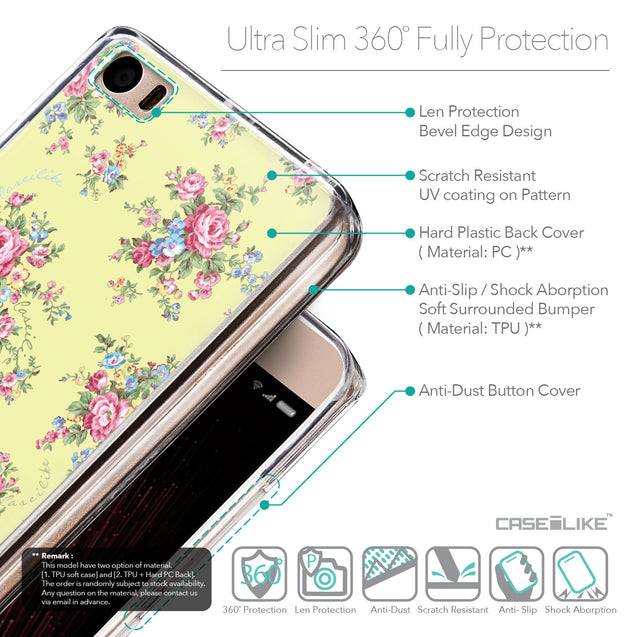 Details in English - CASEiLIKE Xiaomi Mi 5 back cover Floral Rose Classic 2264