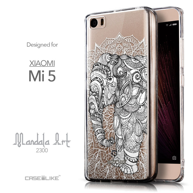 Front & Side View - CASEiLIKE Xiaomi Mi 5 back cover Mandala Art 2300